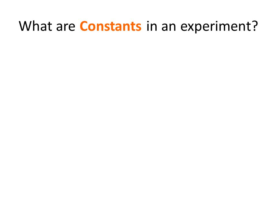 What are Constants in an experiment?