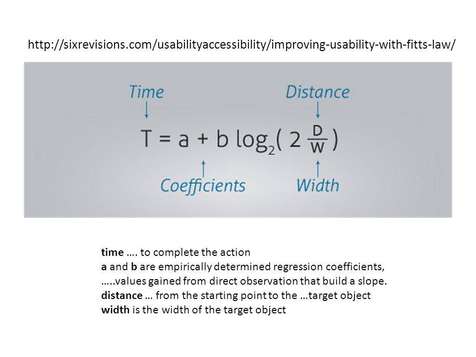 http://sixrevisions.com/usabilityaccessibility/improving-usability-with-fitts-law/ time ….