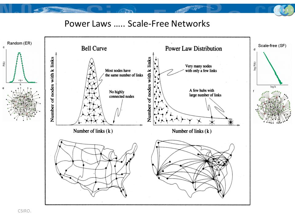 CSIRO. Power Laws ….. Scale-Free Networks