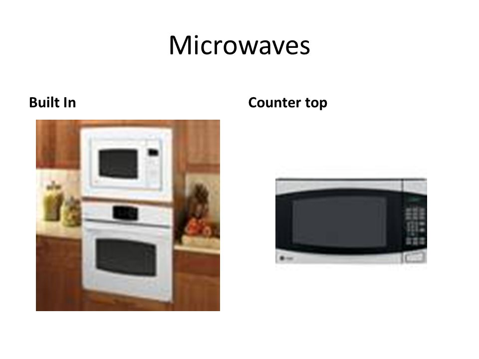 Microwaves Built InCounter top