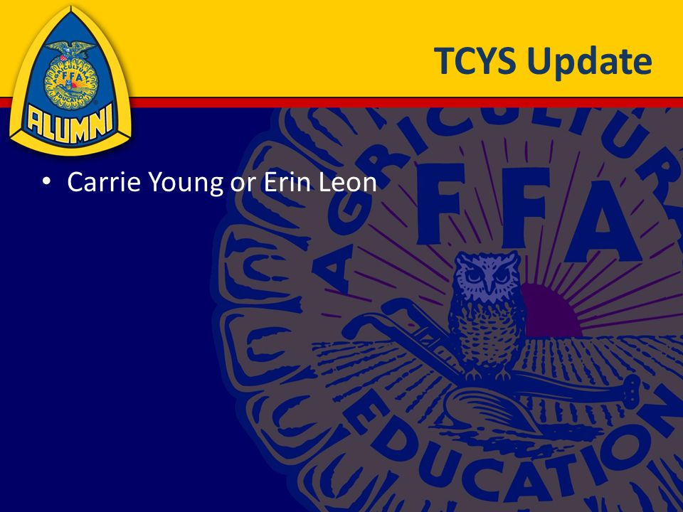 TCYS Update Carrie Young or Erin Leon