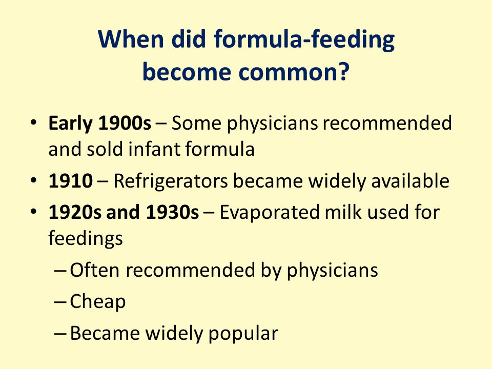When did formula-feeding become common.