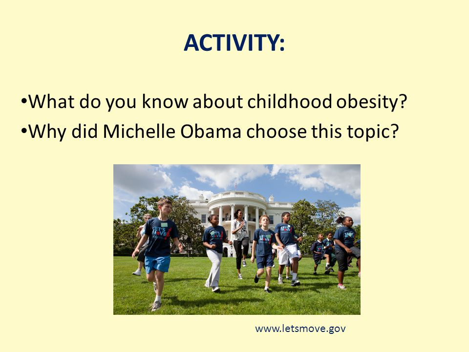 ACTIVITY: What do you know about childhood obesity.