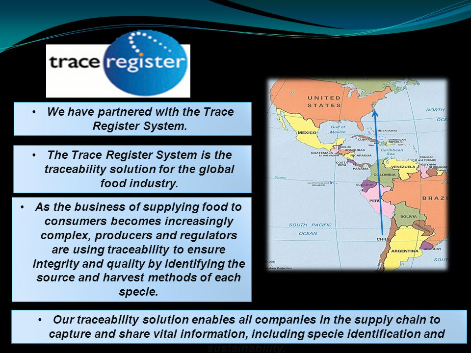 We have partnered with the Trace Register System.