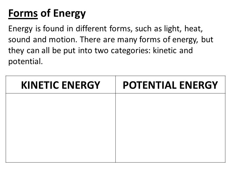 Sources of Energy We use many different energy sources to do work for us.