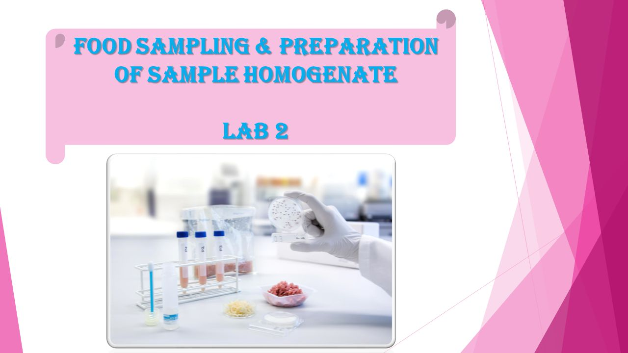Food Sampling & Preparation of Sample Homogenate Lab 2