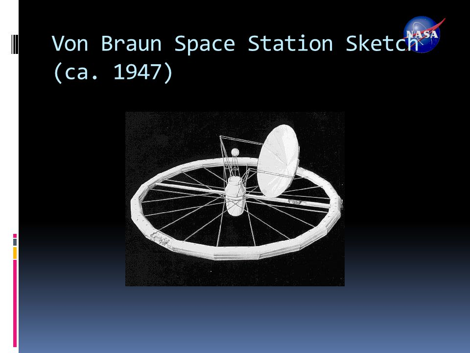 Von Braun Space Station Sketch (ca. 1947)