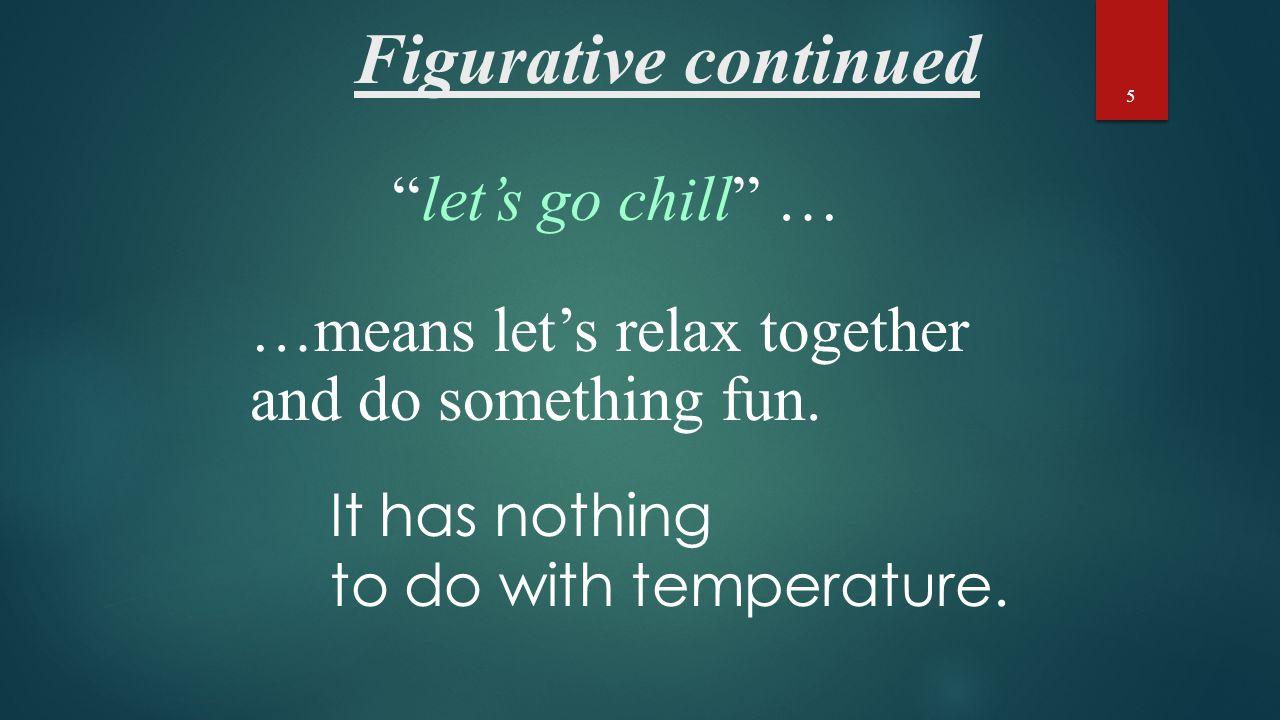 Figurative Language- Hyperbole The opposite of hyperbole is understatement.