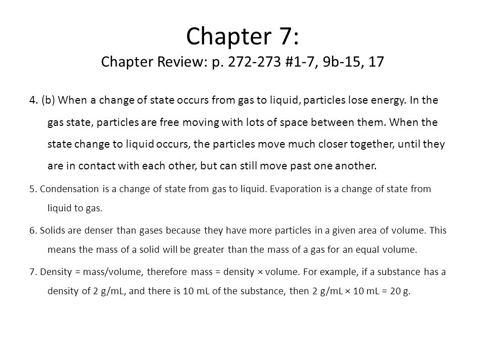 Chapter 7: Chapter Review: p.272-273 #1-7, 9b-15, 17 4.