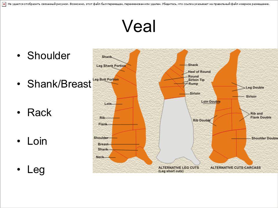 Veal Shoulder Shank/Breast Rack Loin Leg