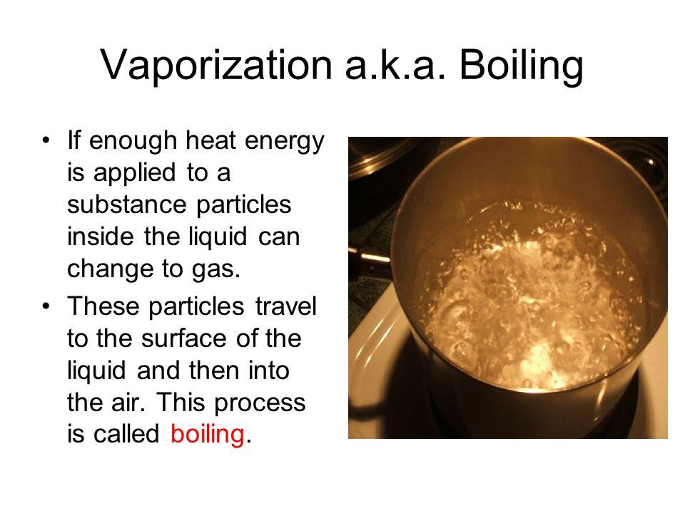 Vaporization a.k.a.