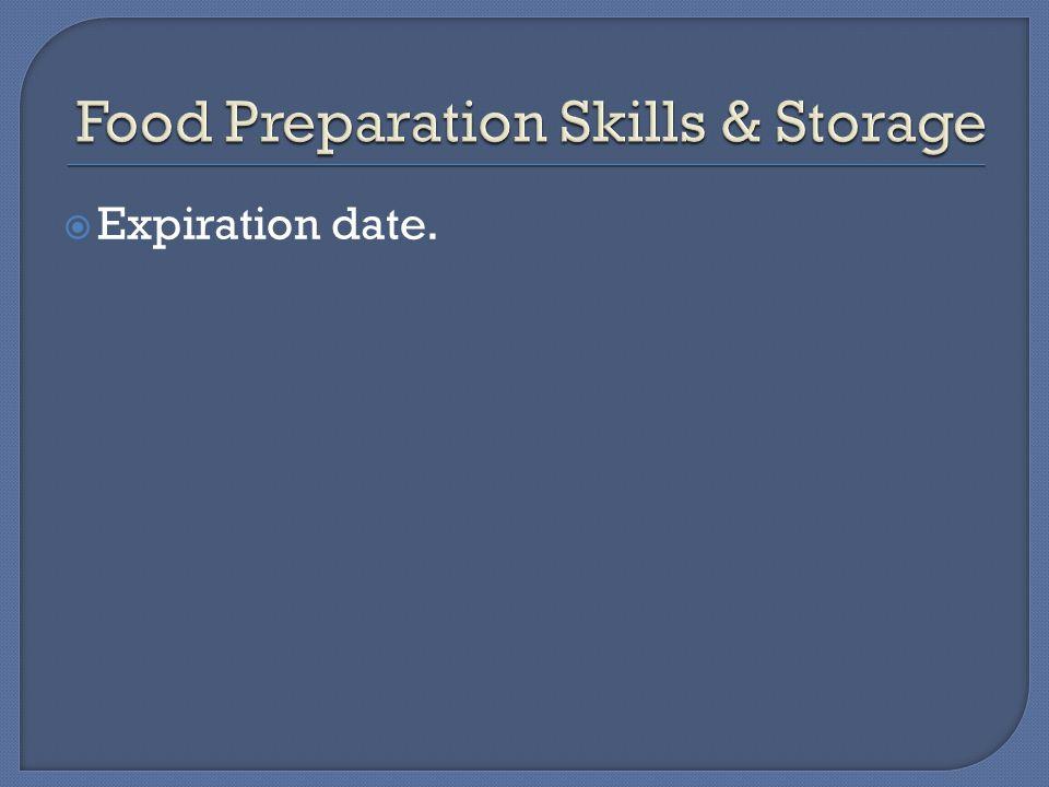  Expiration date.