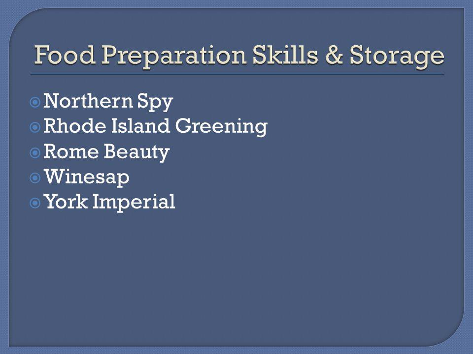  Northern Spy  Rhode Island Greening  Rome Beauty  Winesap  York Imperial
