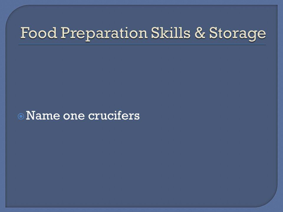  Name one crucifers