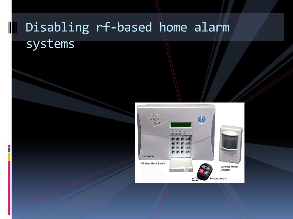 Disabling rf-based home alarm systems