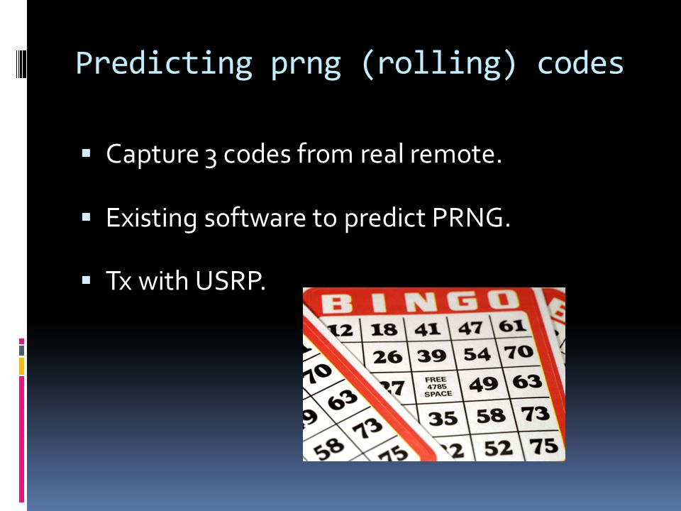 Predicting prng (rolling) codes  Capture 3 codes from real remote.