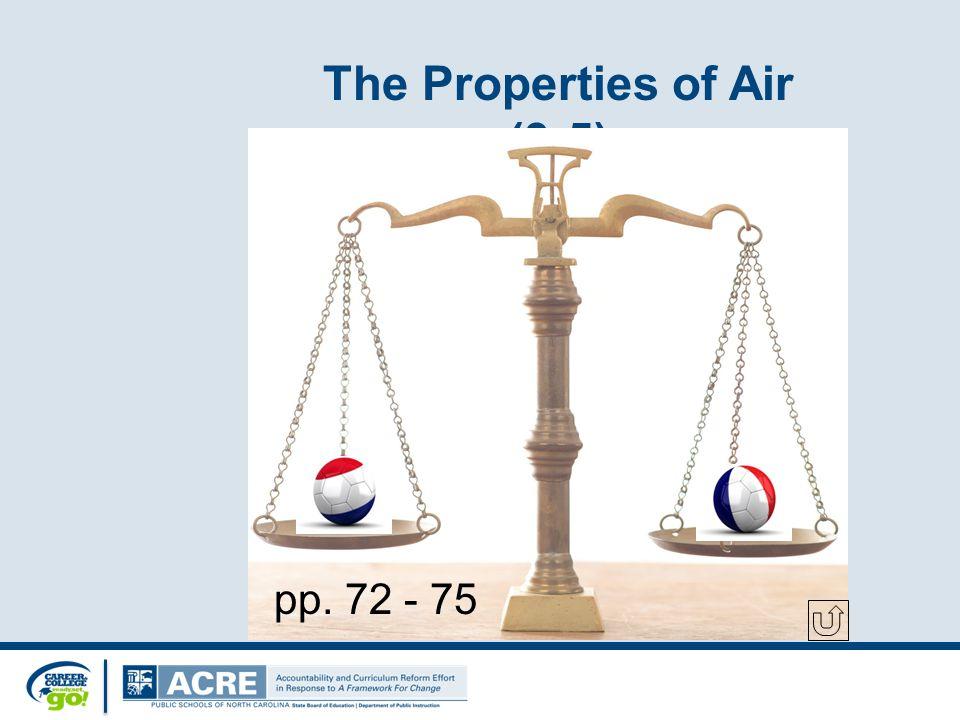 The Properties of Air (3-5) pp. 72 - 75