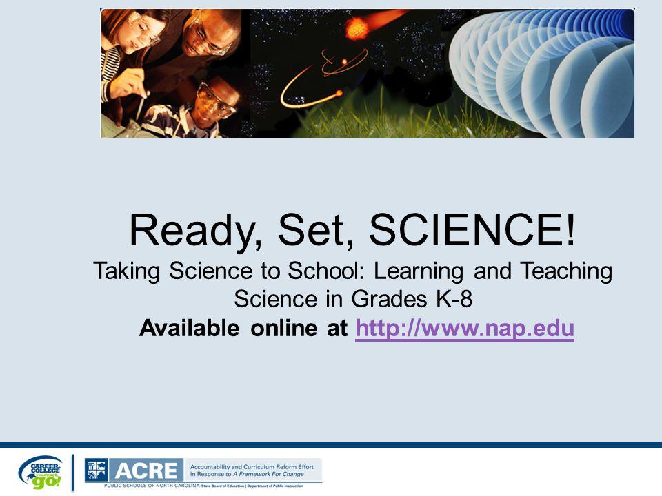Ready, Set, SCIENCE.