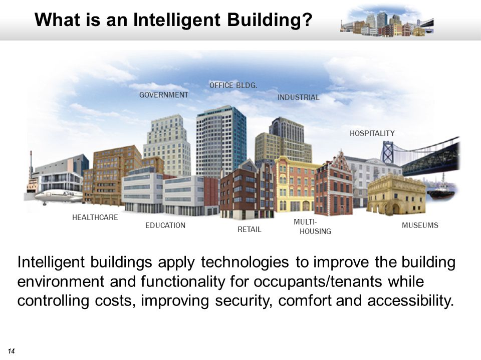 14 What is an Intelligent Building. GOVERNMENT OFFICE BLDG.