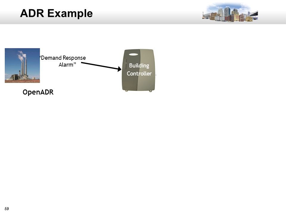 59 ADR Example Demand Response Alarm OpenADR Building Controller