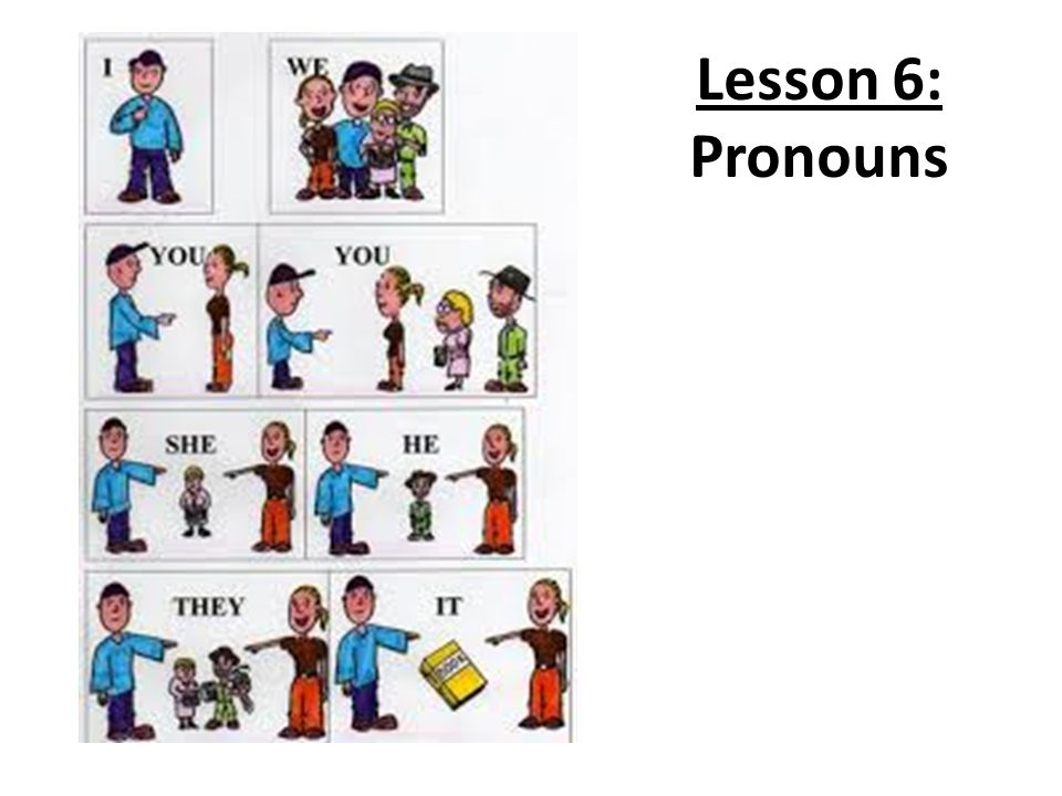 Lesson 6: Pronouns