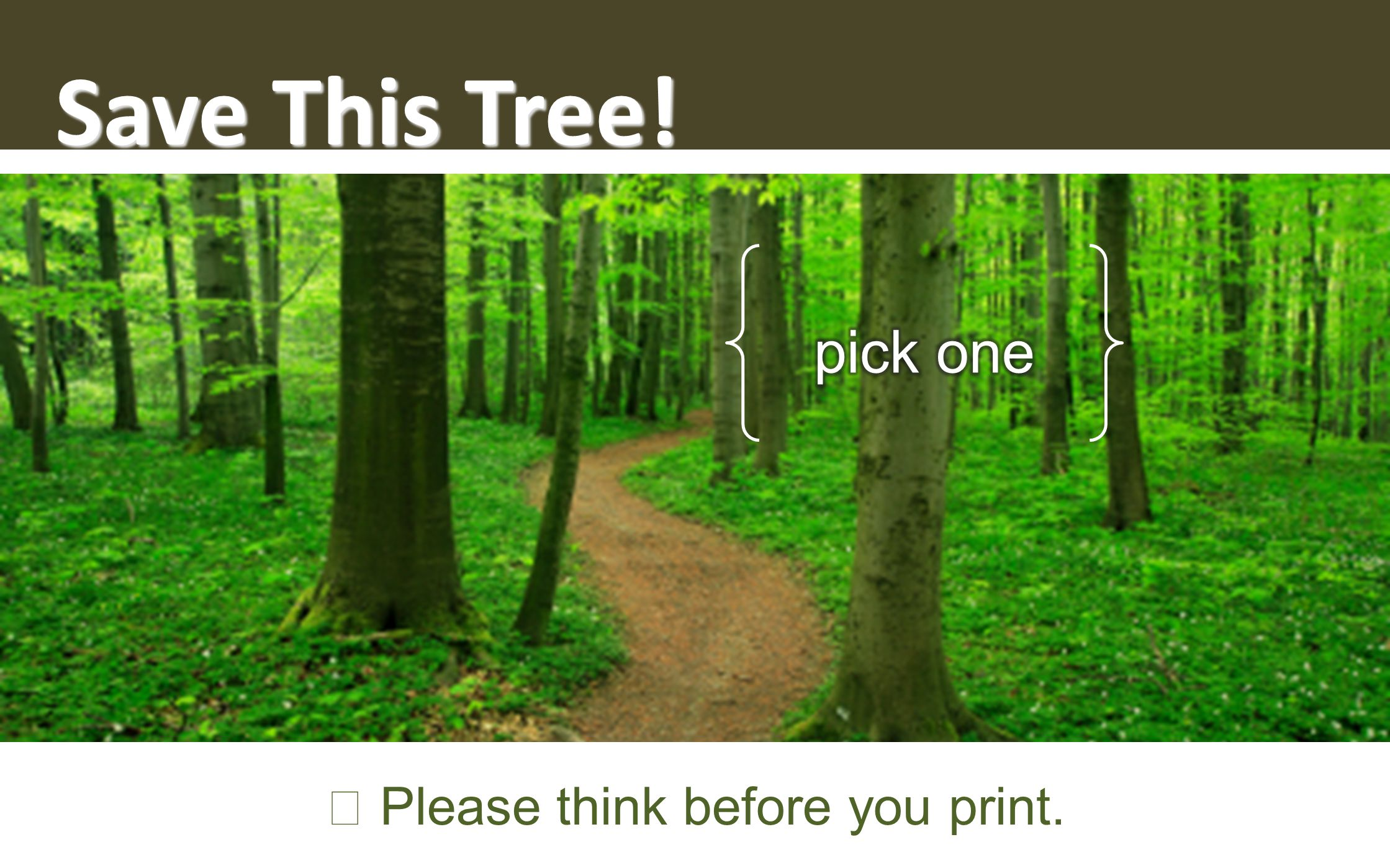 Save This Tree! ☞ Please think before you print.