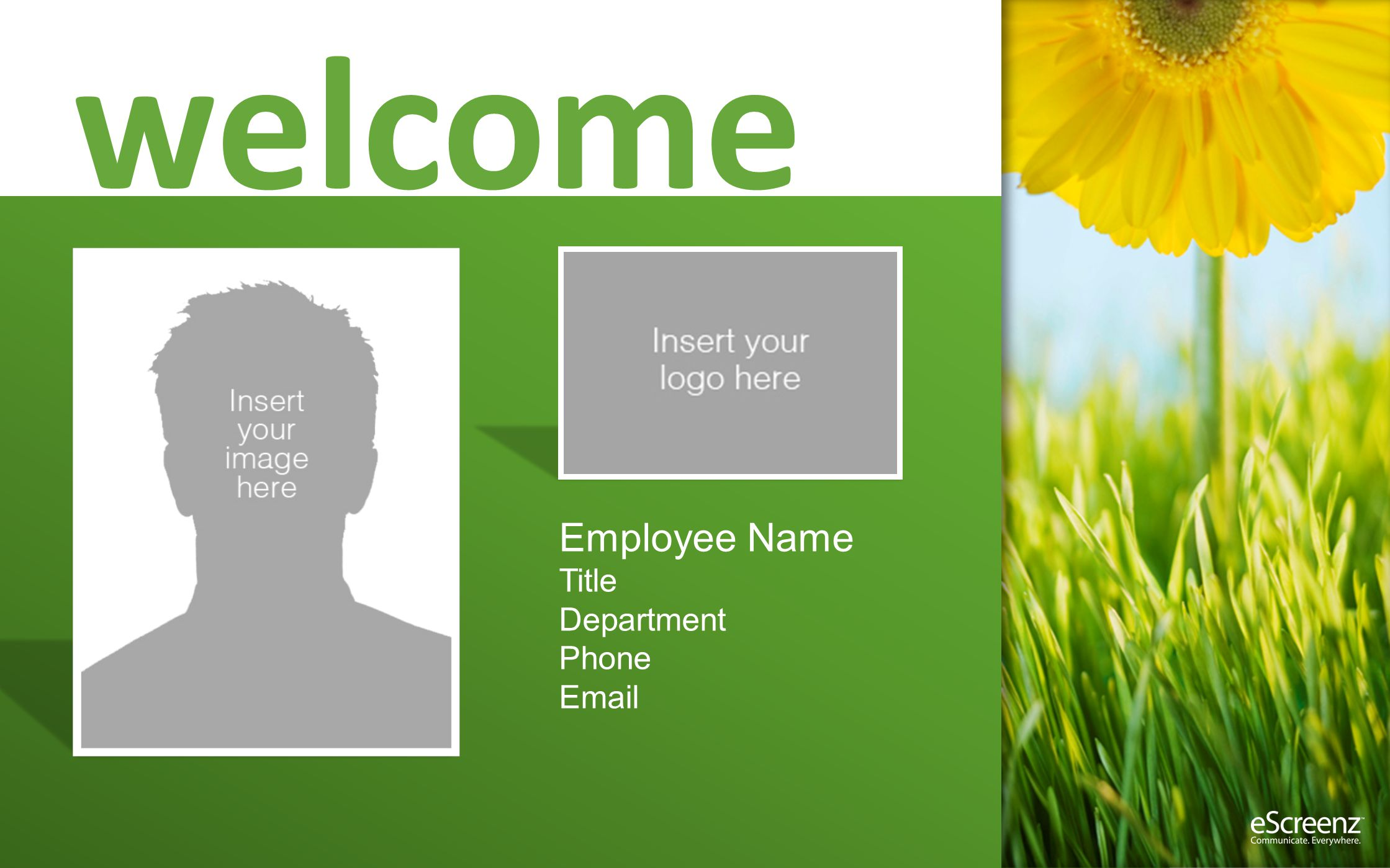 welcome Employee Name Title Department Phone Email