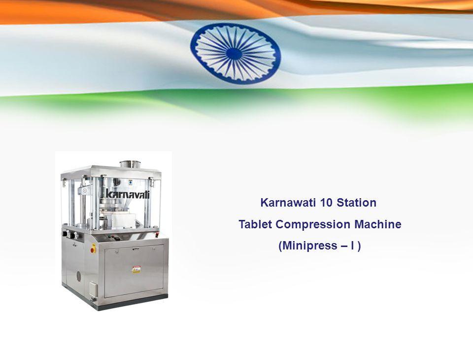 Karnawati 10 Station Tablet Compression Machine (Minipress – I )
