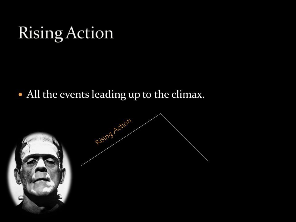 All the events leading up to the climax. Rising Action