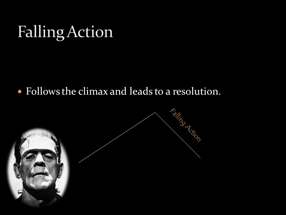 Follows the climax and leads to a resolution. Falling Action
