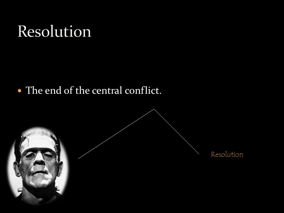 The end of the central conflict. Resolution