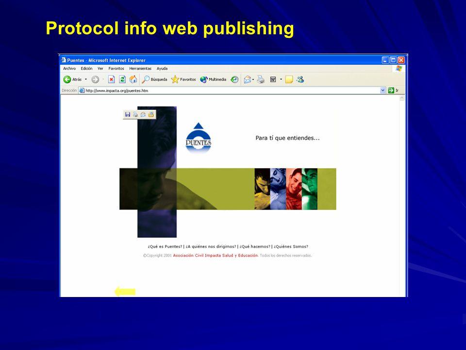 Protocol info web publishing