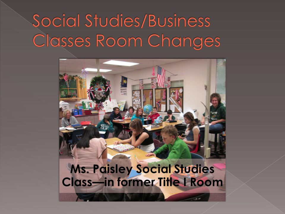 Ms. Paisley Social Studies Class—in former Title I Room