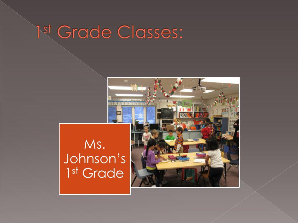 Ms. Johnson's 1 st Grade