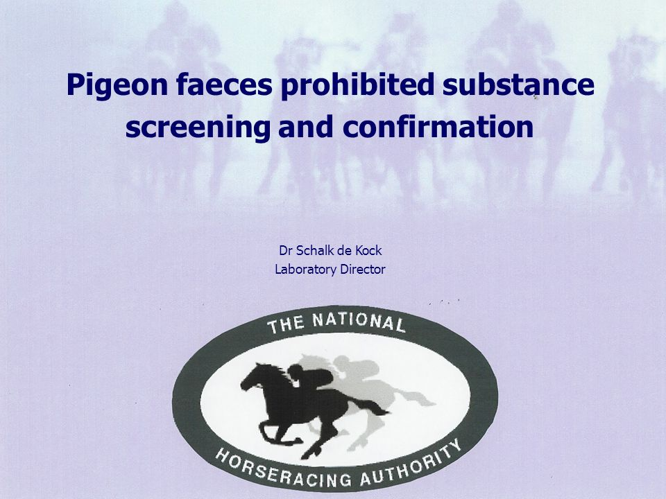 3 The core function of this Laboratory Thoroughbred racing in Southern Africa is provided with a competent and efficient drug testing service in accordance with local and international rules.