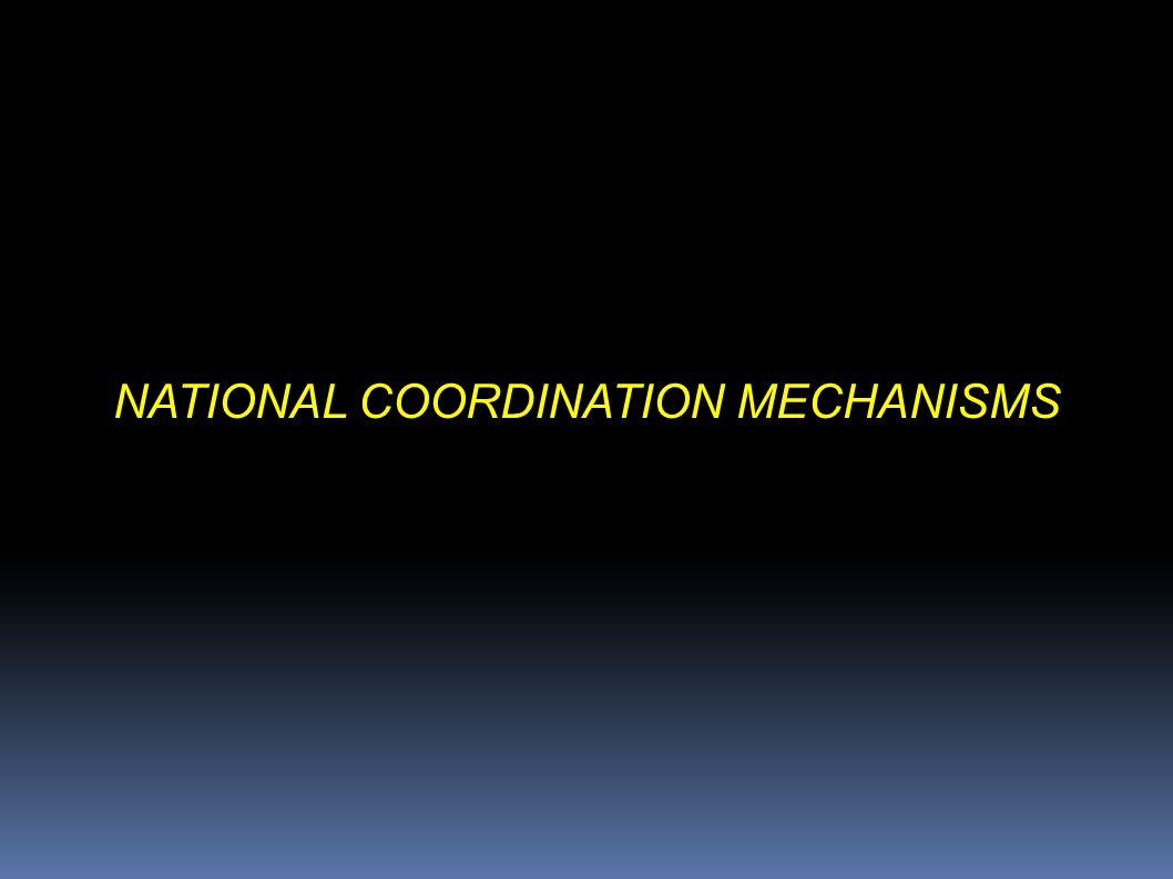 NATIONAL COORDINATION MECHANISMS