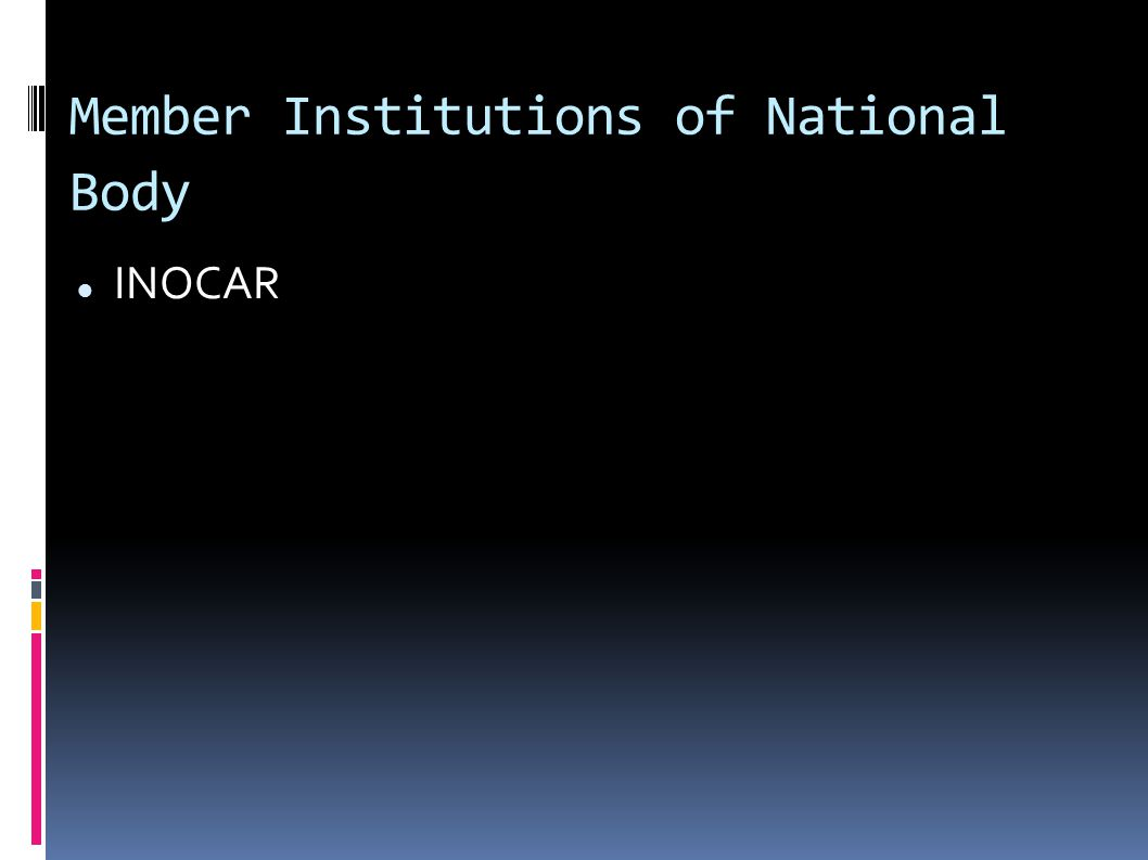Member Institutions of National Body INOCAR