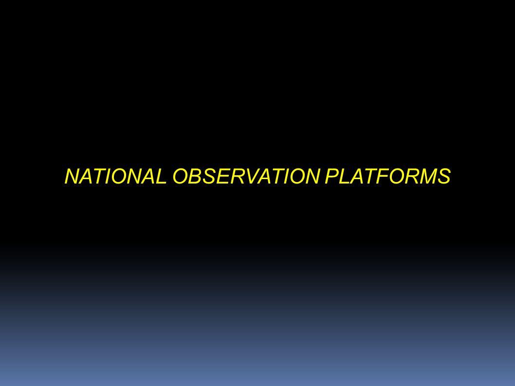NATIONAL OBSERVATION PLATFORMS