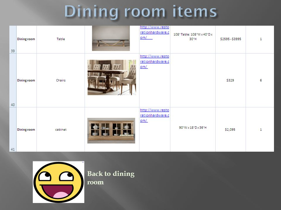Back to dining room