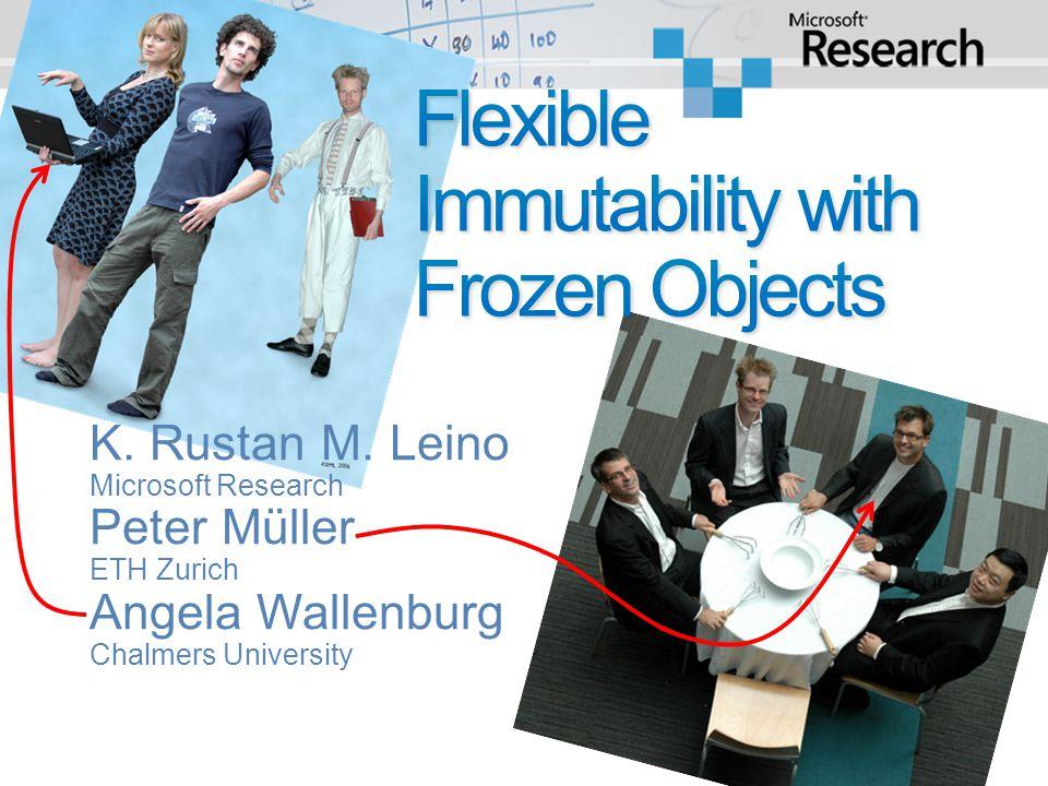 K. Rustan M. Leino Microsoft Research Peter Müller ETH Zurich Angela Wallenburg Chalmers University