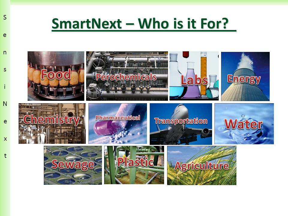 SensiN ext SensiN ext SmartNext – Who is it For