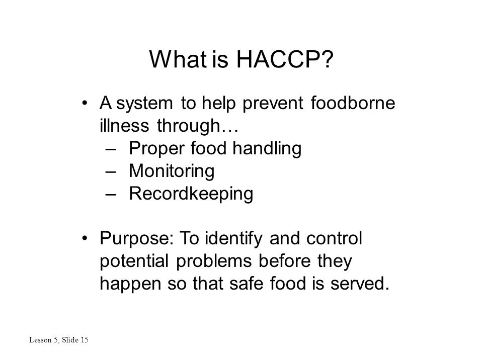 What is HACCP.