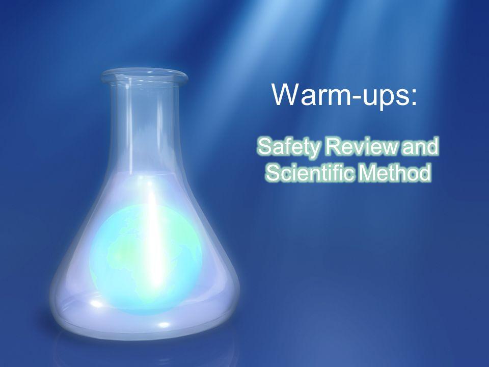 Warm-ups: