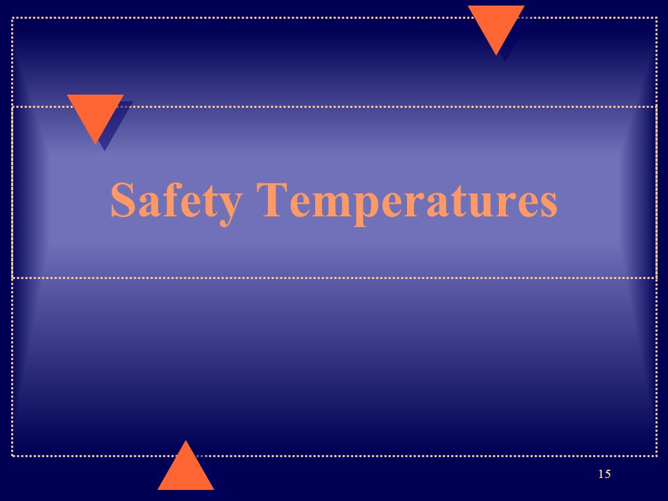 Safety Temperatures 15