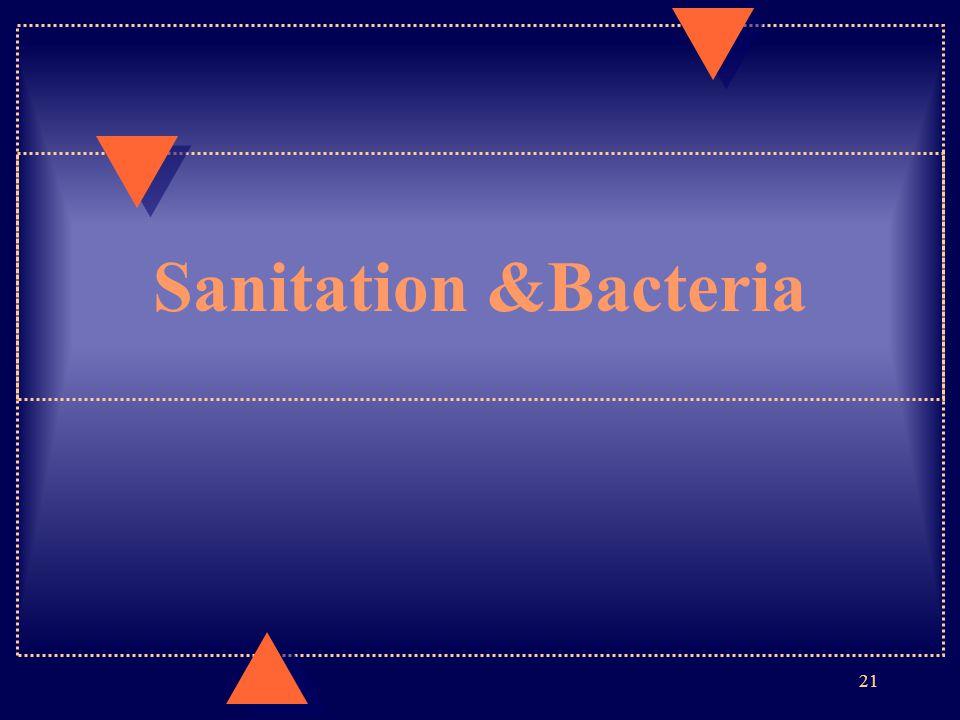 Sanitation &Bacteria 21