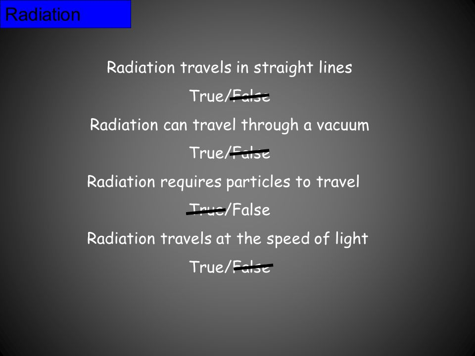 Radiation The sun is a major source of energy for changes on the earth's surface.