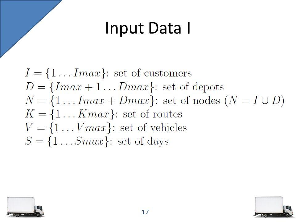 Input Data I 17