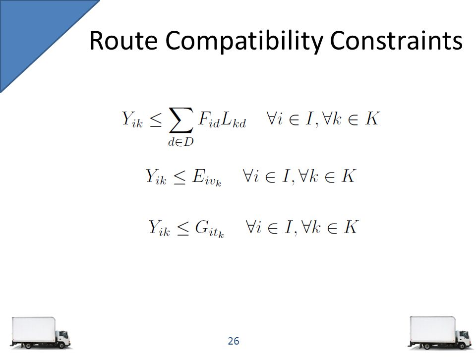 Route Compatibility Constraints 26