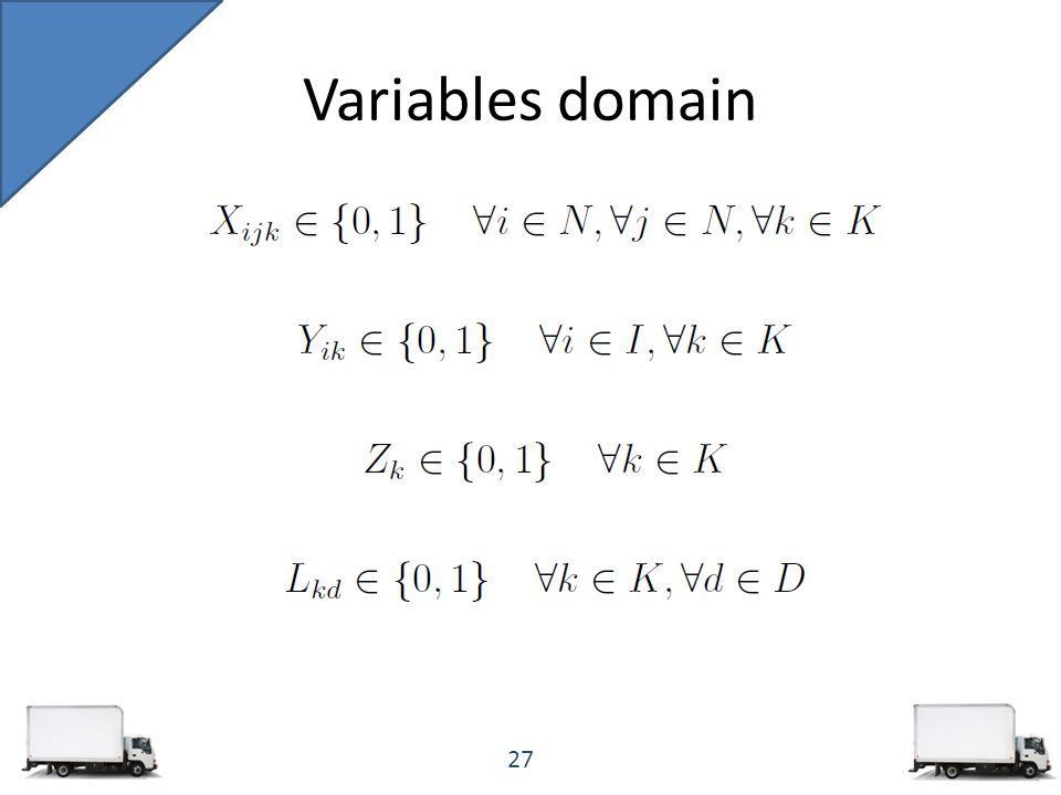Variables domain 27