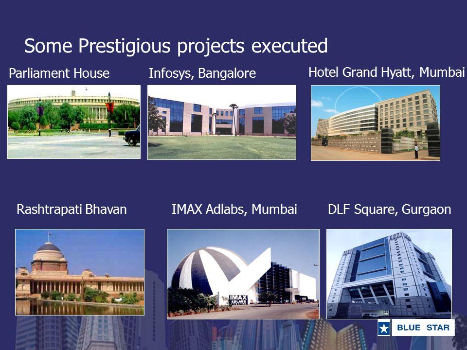 Some Prestigious projects executed Parliament House Rashtrapati Bhavan Infosys, Bangalore DLF Square, GurgaonIMAX Adlabs, Mumbai Hotel Grand Hyatt, Mumbai